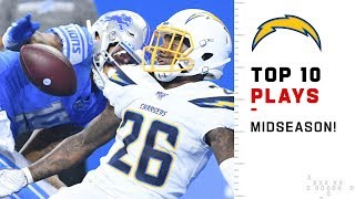 Chargers Top 10 Plays at Midseason! | 2019 NFL Highlights