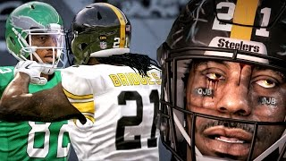 MADDEN 17 CAREER MODE GAMEPLAY - FIGHTING A RECEIVER IN CLOSE GAME! Ep. 5