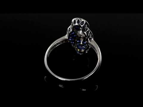 Browns Family Jewellers Diamond & Sapphire Cluster Ring