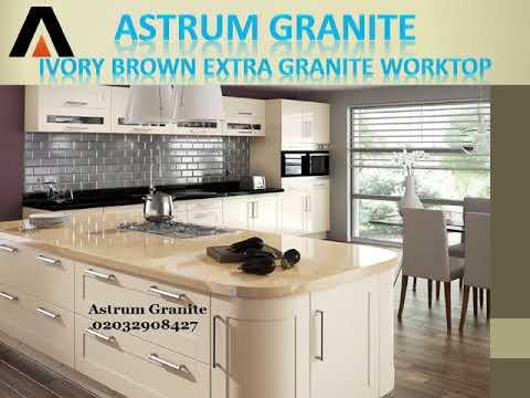 Ivory Brown Extra Granite Kitchen Worktop in London - Astrum Granite