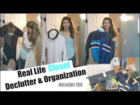 CLOSET DECLUTTER & ORGANIZATION | CLEANING MOTIVATION | Momma from scratch