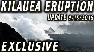 NEWS UPDATE EXCLUSIVE Hawaii Kilauea Volcano Fissure 8 Video for 9/15/2018