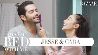 Jesse Metcalfe and Cara Santana's Nighttime Skincare Routine | Go To Bed With Me | Harper's BAZAAR