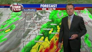 Severe Weather Update for Monday