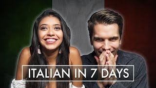 We tried to LEARN ITALIAN in 7 DAYS!! - LANGUAGE CHALLENGE