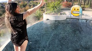 SHE JUMPED IN 5,000 POUNDS OF ICE!! (COLDEST WATER EVER) | FaZe Rug