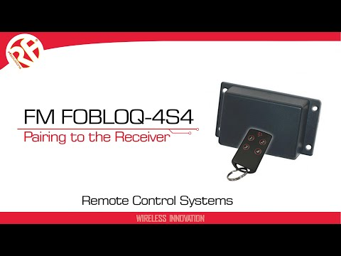 FM FOBLOQ 4 Channel Remote Control System, 433MHz, 150m Range