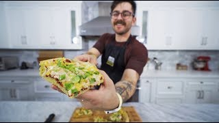 trying to make a loaded baked potato pizza