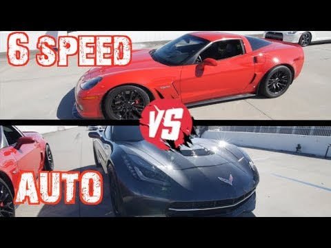 Manual VS Flappy Paddles! C6Z Corvette Battles Procharged C7 and Nissan GTR
