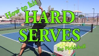 How to Hit a Hard Serve for Pickleball - Strategies, Skills & Drills by Coach David Alexander