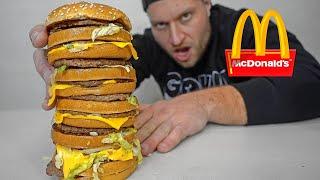 McDonald's BIGGEST Big Mac Ever Challenge!