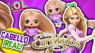 Muñeca RAPUNZEL con CABELLO REAL | Versión LOL Sorpresa y Lil Sister! - Transformaciones Fantásticas