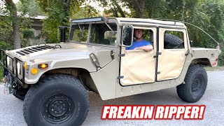 We Bought a Retired HUMVEE and It's Impossible NOT To Love It... #HUMFREE