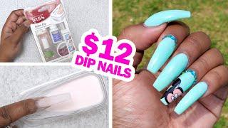 Doing my Nails using the Kiss Dip Powder Nail Kit