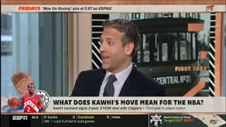 [BREAKING] First Take | Kawhi Leonard signs 3-year, $103M deal with Clippers to BEAT Lakers in 2020