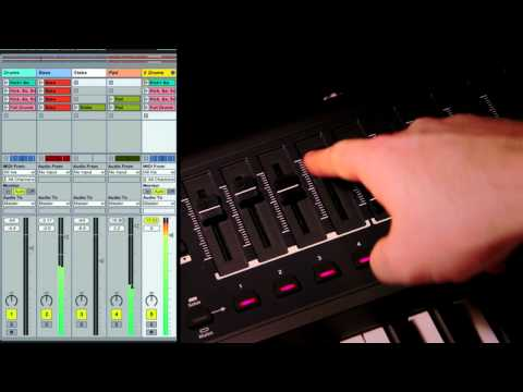 Novation // SL MkII and Impulse Controlling Ableton Live