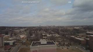 LIVE Kansas City MO Tornado Warning & Vivid Lightning - 3/6/2017