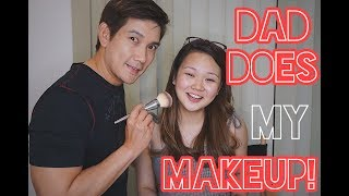 Father's Day bonding: Dad does my makeup! | Ashley Sandrine + Richard Yap