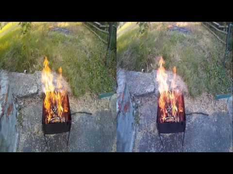 Best Fire  3D  HD 1080p video ✰ Relaxing campfire sound ✰ Full HD . 3D VIDEO