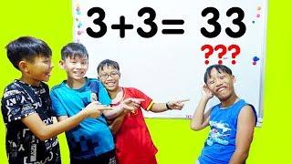 Hunter Kids Go To School Learn Colors Math (3 + 3 = 33 )    Classroom Funny Nursery Rhymes