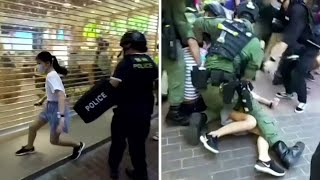 Hong Kong: 12-year-old girl's arrest by police criticised