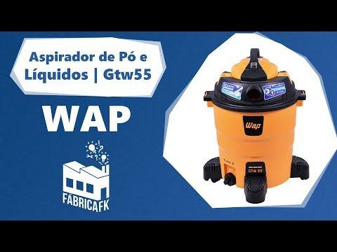 Soprador e Aspirador de Pó e Água 1600W 55 Litros Gtw55 Wap - Vídeo explicativo