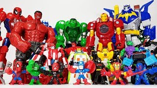 Avengers with Fidjet Spiner, Go~! Hulk, Captain America, Spider Man, Iron Man, Batman, Transformer