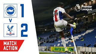 Benteke's last-gasp volley sinks Brighton   Brighton 1-2 Crystal Palace