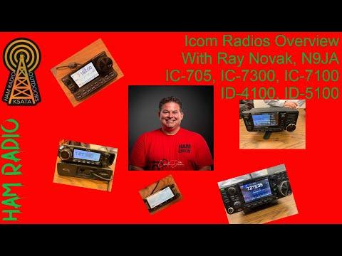 Icom Radios Overview With Ray Novak ID4100 ID5100 IC705 IC7100 IC705