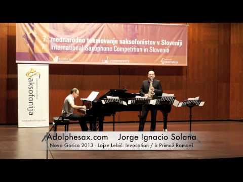 Ignacio solana - Nova Gorica 2013 - Lojze Lebič Invocation / à Primož Ramovš