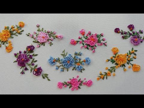 mini Embroidery:  loop flower | Brazilian new easy design