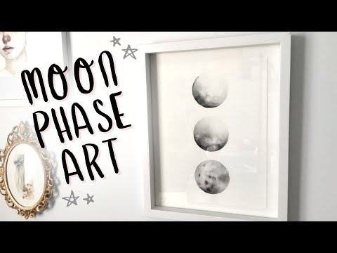 Watercolor Moon Phases DIY? ? ? Everything Changes (Painting Tutorial and Chat)