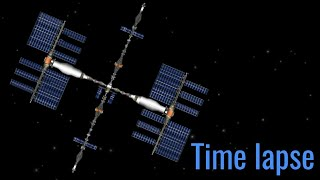Build space station time lapse ||spaceflight simulator