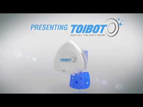 World's first toilet-cleanig robot!