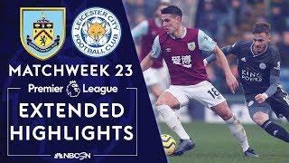 Burnley v. Leicester City | PREMIER LEAGUE HIGHLIGHTS | 1/19/2020 | NBC Sports
