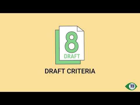 Webinar: Criteria overview, TCO Certified, generation 8 draft