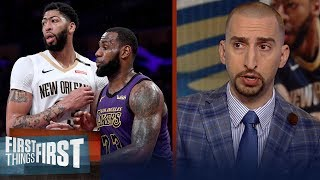 Nick Wright breaks down his proposed Lakers trade for Anthony Davis | NBA | FIRST THINGS FIRST