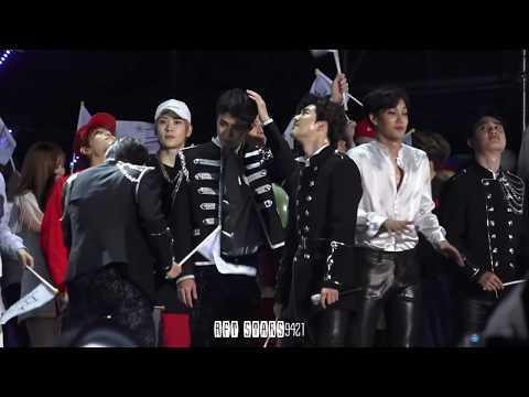 170603 Dream concert EXO 엑소 세훈 SEHUN ending - 폭죽이 무서운 막내에서 NCT 후배들 인사 받는 선배님  @ 2017 드림콘서트
