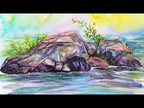 LIVE: Tackling Rocks in Watercolor 12:30pm ET