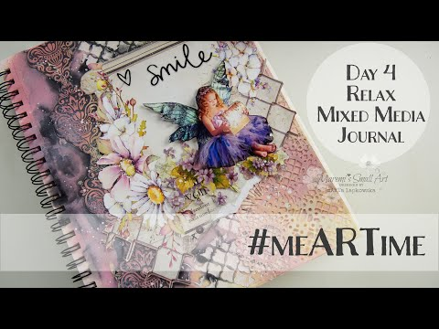 #meARTime Mixed Media Journal Page Day #4 ♡ Maremi's Small Art ♡