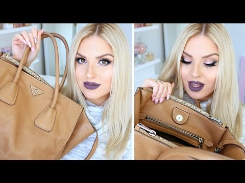 "Whats In My Prada Bag""! ? Botox, Lube, Hairy Lashes & More!"