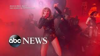 Taylor Swift brought the house down at the AMAs and broke a record