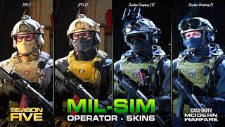 "NEW ""MIL-SIM"" Operator Skins in Season 5! (Coalition & Shadow Company)   Modern Warfare"