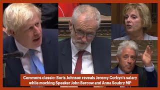 Boris Johnson Picks Up Mic, MP Soubry Interrupts, Then BoJo Mocks Bercow And Reveals Corbyn's Salary