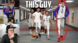 Reacting To The TALLEST High School Basketball Player That's Still TOO Small For The NBA