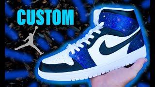 CUSTOM Galaxy Jordan 1's !!  Jordan Vincent