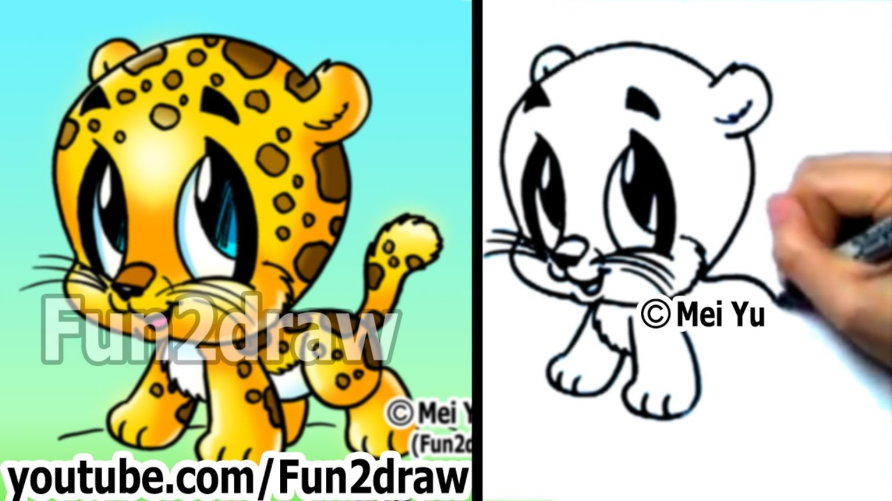 Easy Cheetah Face Drawing