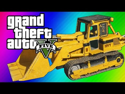 GTA 5 Online: 2 Fun Jobs! - Pool Divers & Vehicle Bouncy Castle! (GTA 5 Funny Moments)