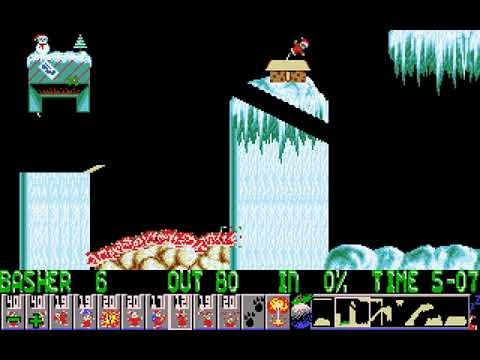 Xmas Lemmings 1992 (DMA Design) (MS-DOS) [1991]