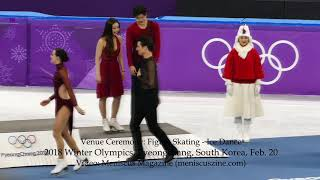 Ice Dance Figure Skating Venue Ceremony - 2018 Winter Olympics - Meniscus Magazine